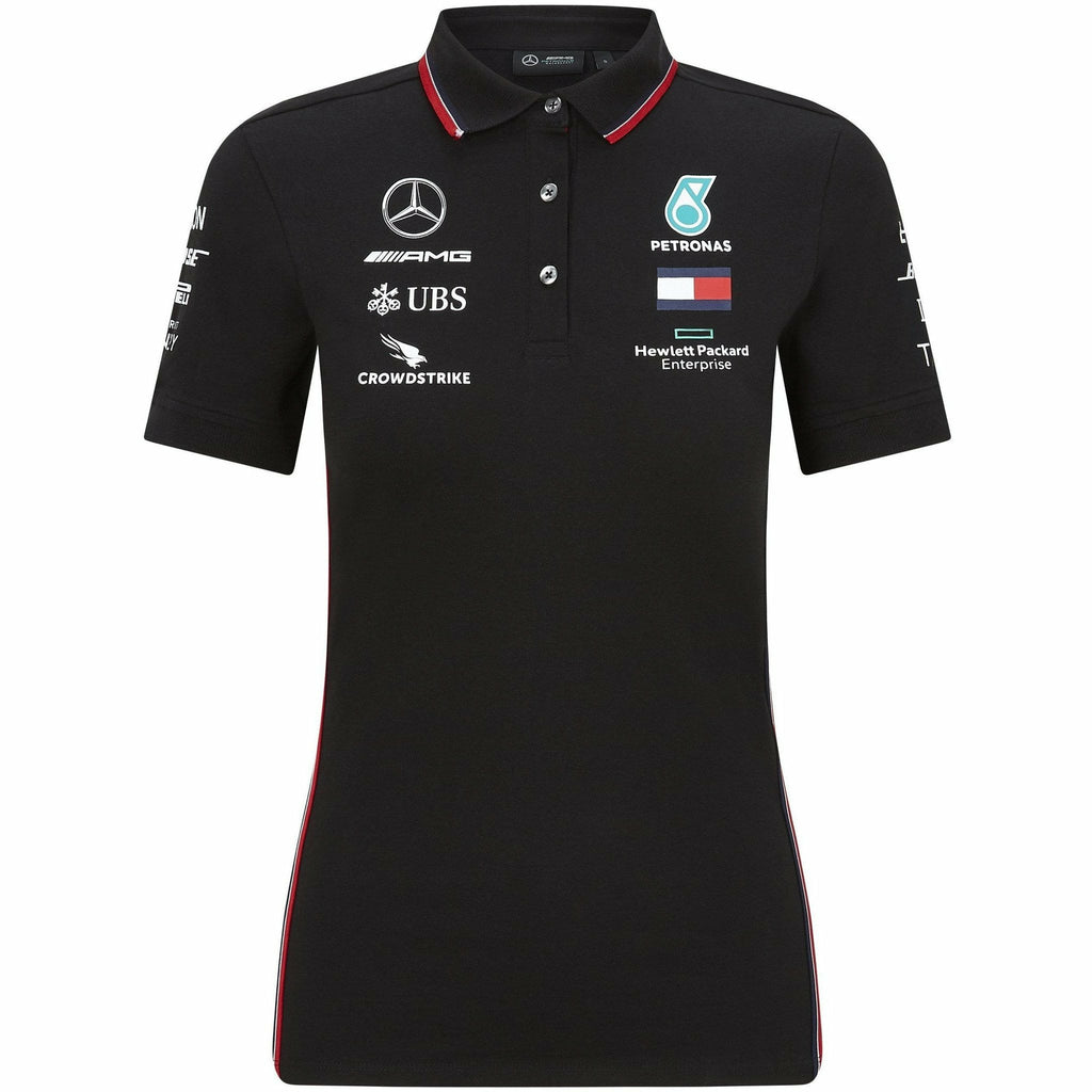 Mercedes Benz AMG Petronas F1 2020 Women's Team Polo Black/White