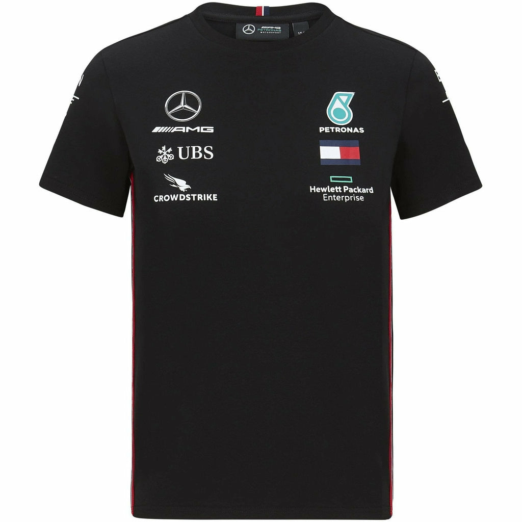) Mercedes Benz AMG Petronas F1 2020 Kids Team T-Shirt Black/White
