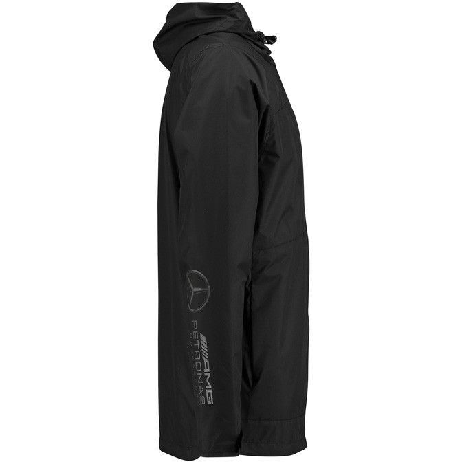 Mercedes Benz AMG Petronas Formula 1 Men's Black Rain Jacket