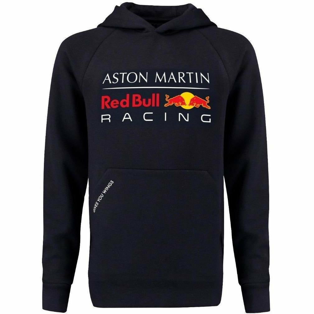 Red Bull Racing Aston Martin Kids Blue Authentic 2018 F1 Pull Over Hoodie