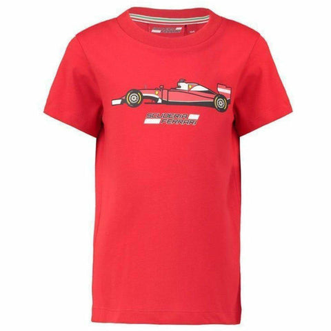Scuderia Ferrari Formula 1 Kids 2018 Red Car Graphic T-Shirt