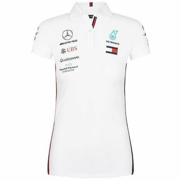 Women's Mercedes-AMG Petronas Motorsport 2019 F1 Team Polo Shirt White