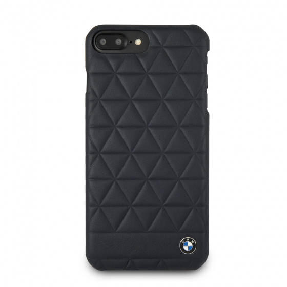 BMW IPHONE 6/7/8 GENUINE LEATHER HARD CASE HEXAGON
