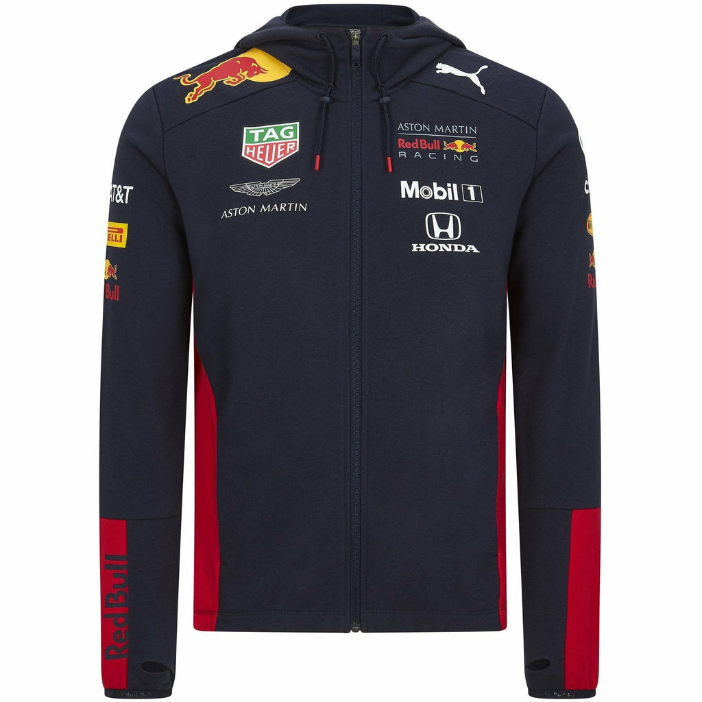 Red Bull Racing F1 2020 Men's Team Hooded Sweat Jacket Navy