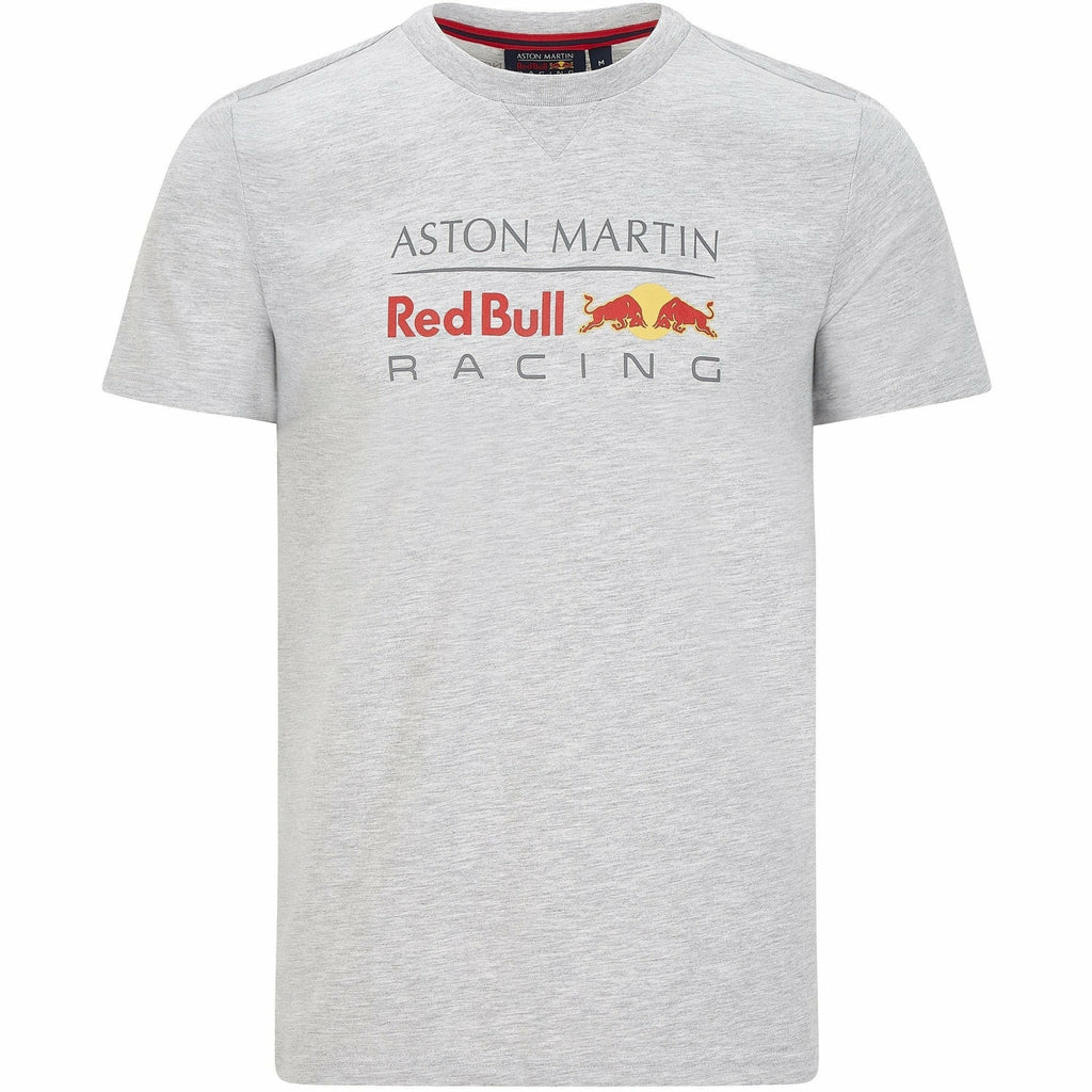 Red Bull Racing F1 Men's Large Logo T-Shirt Gray/White/Navy