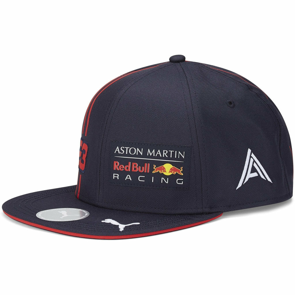 Red Bull Racing F1 2020 Team Alexander Albon Flatbrim Hat Navy