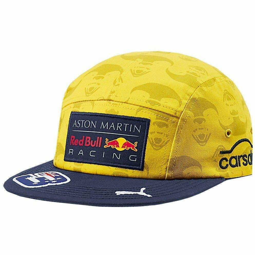 99c99d7aa92 Red Bull Racing Aston Martin Daniel Ricciardo 2018 SE Yellow Australia Hat. Red  Bull Racing Aston Martin Daniel Ricciardo 2018 SE Yellow Australia Hat