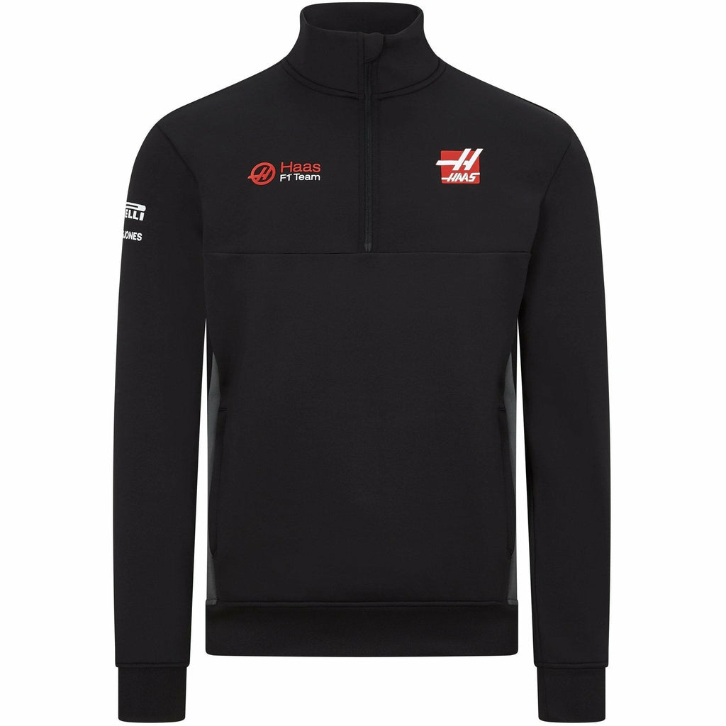 Haas Racing F1 2020 Men's Team 1/2 Zip Sweatshirt Black