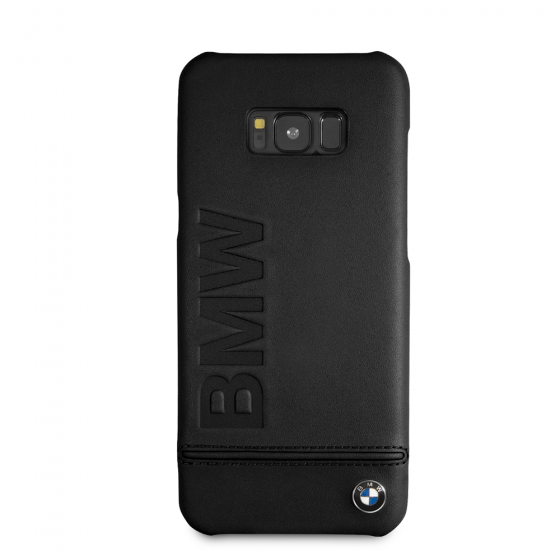 BMW BLACK GENUINE LEATHER LOGO HARD CASE