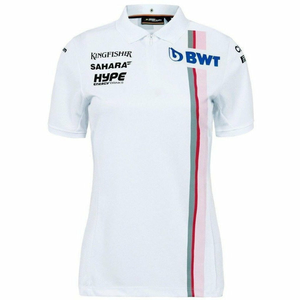 Sahara Force India Formula 1 Authentic Women's 2018 White Team Polo