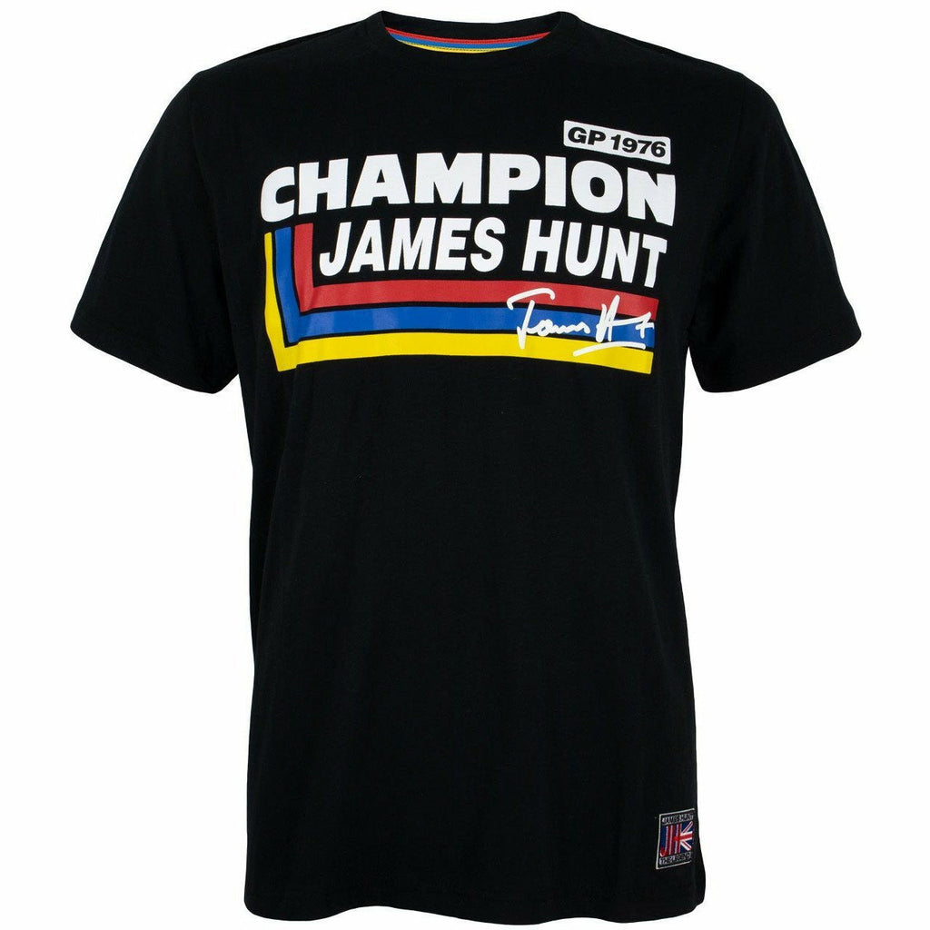 James Hunt Silverstone GP 1976 Champion T-Shirt