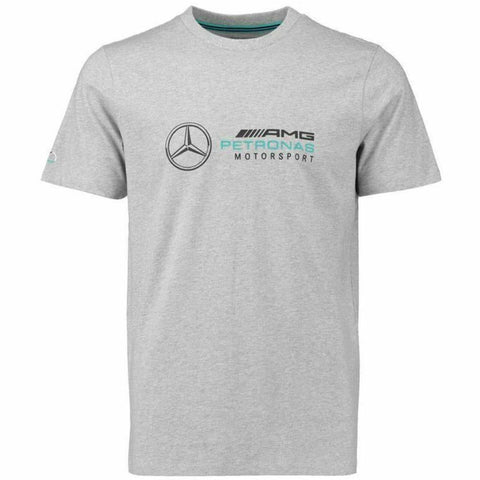 Mercedes Benz AMG Petronas Formula 1 Men's 2018 Gray Logo T-Shirt