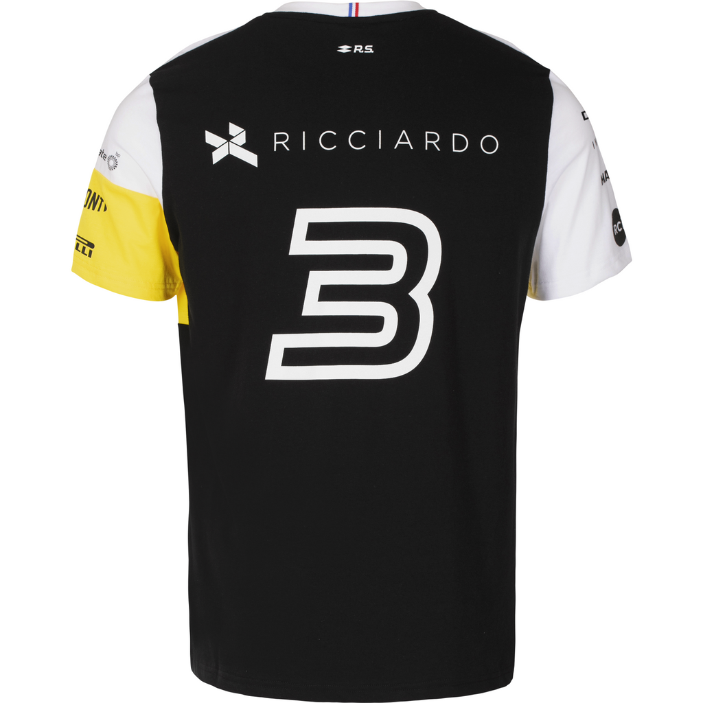 Renault F1 2020 Kids Team Daniel Ricciardo T-Shirt Black