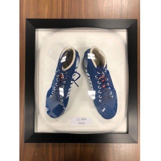 Mercedes Benz AMG F1 Valtteri Bottas Framed 2018 Replica Blue Puma Shoes Boots