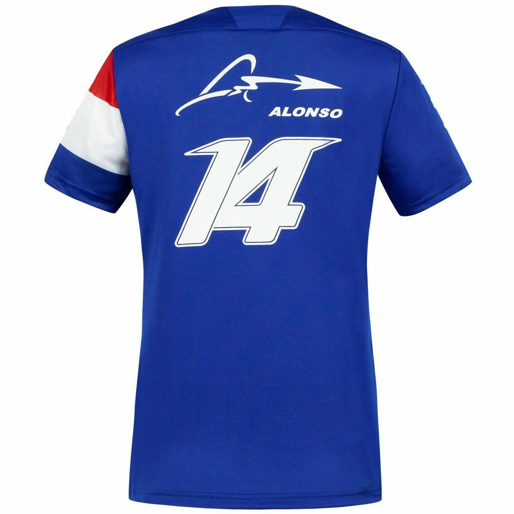 Alpine Racing F1 2021 Women's Team Fernando Alonso T-Shirt- Blue