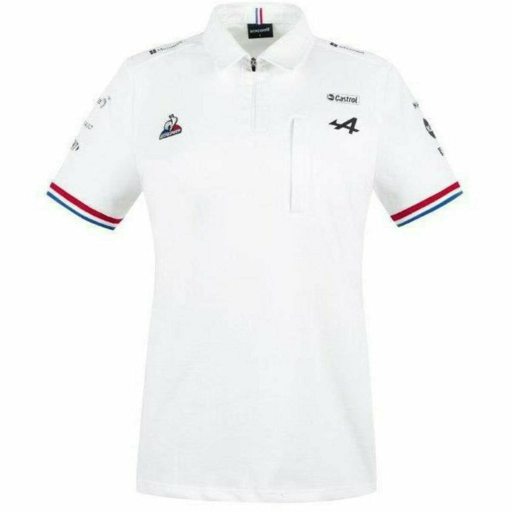 Alpine Racing F1 2021 Women's Team Polo Shirt- Black/White