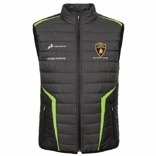 Lamborghini Squadra Corse 2019 Men's Padded Vest Jacket Black