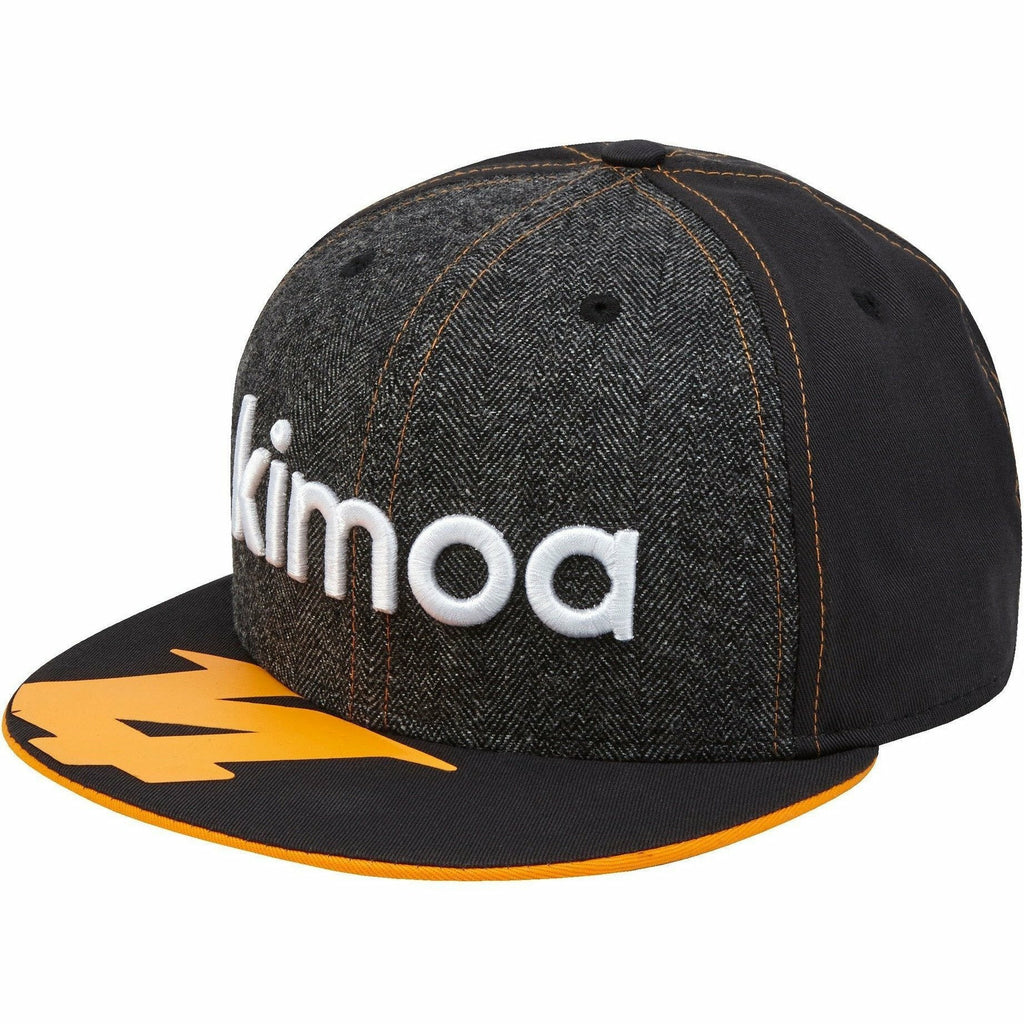 McLaren Official 2018 Fernando Alonso Kimoa Cap - New Era 9FIFTY - Anthracite - M/L