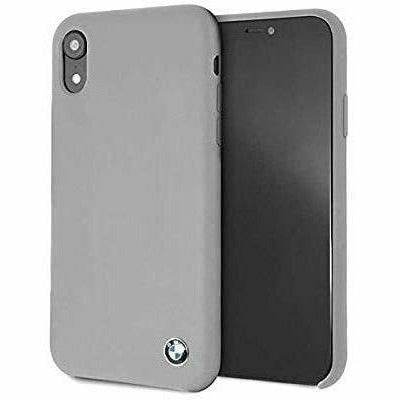 BMW Gray Silicone Hard Case, iPhone XR