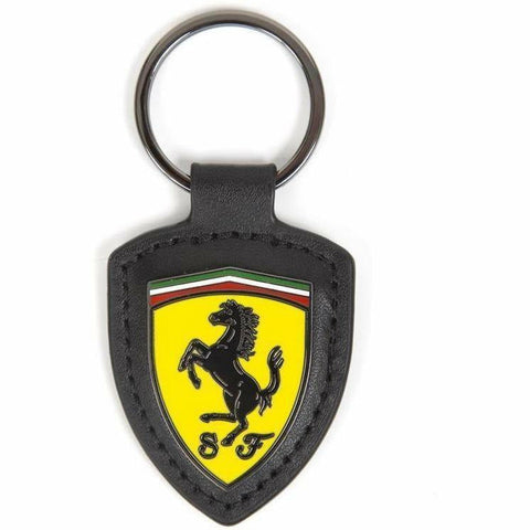 Scuderia Ferrari Formula 1 Authentic 2018 Leather Shield Keychain