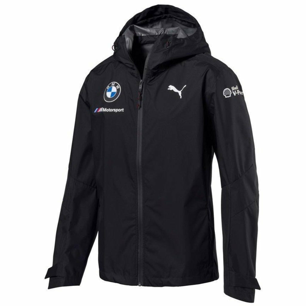 BMW Motorsports Dark Anthracite Gray 2018 Men's Team Rain Jacket