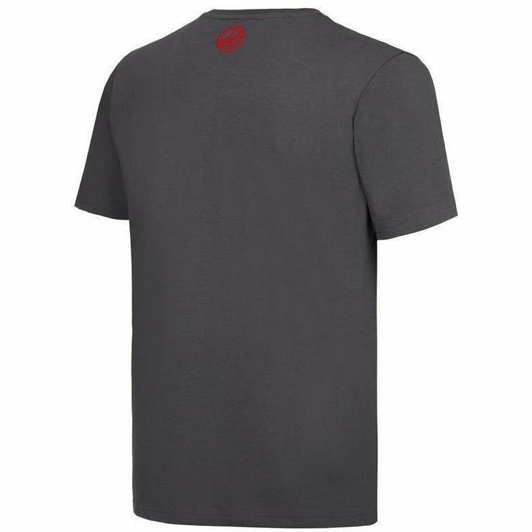 Haas American Team Formula 1 Motorsports Mens Authentic Gray Logo T-Shirt