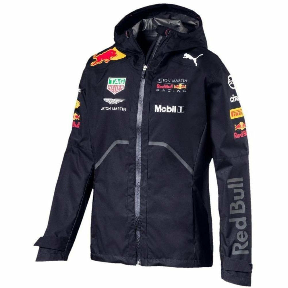 Red Bull Formula 1 Aston Martin 2018 Men's Team Blue Rain Jacket