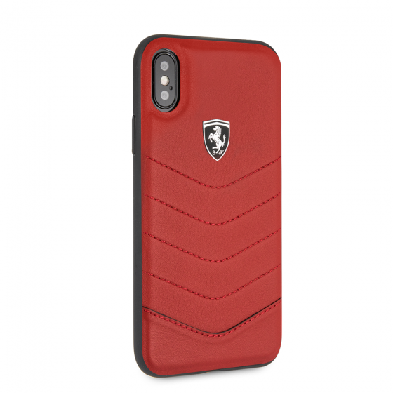 FERRARI GENUINE RED QUILTED LEATHER HERITAGE CASE
