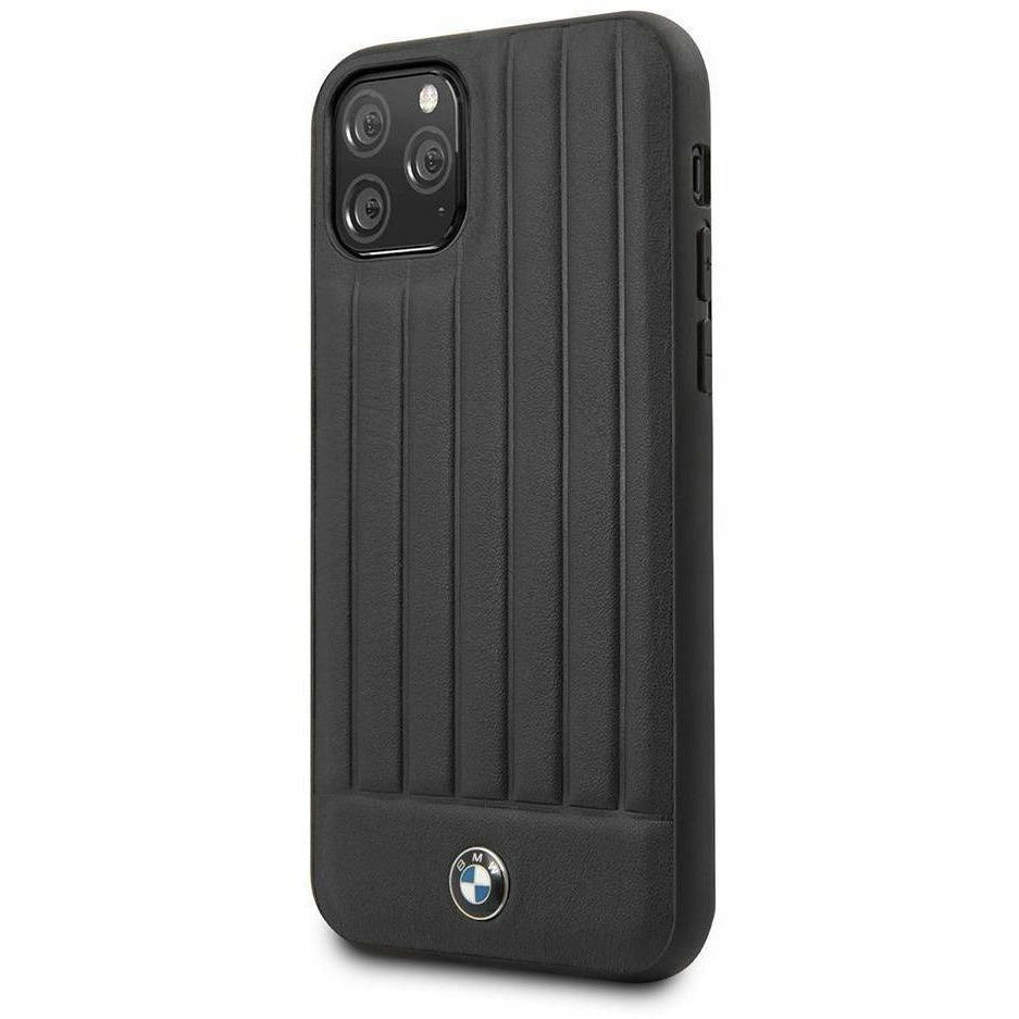 BMW Motorsports PHONE CASE FOR IPHONE 11 PRO PC/TPU HARD CASE WITH REAL LEATHER TEXTURED HOT STAMPED LINES