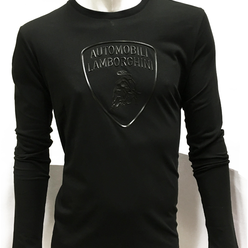 Automobili Lamborghini Men's Black Long Sleeve T-Shirt