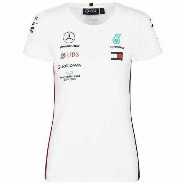 Women's Mercedes-AMG Petronas Motorsport 2019 F1 Team T-Shirt White