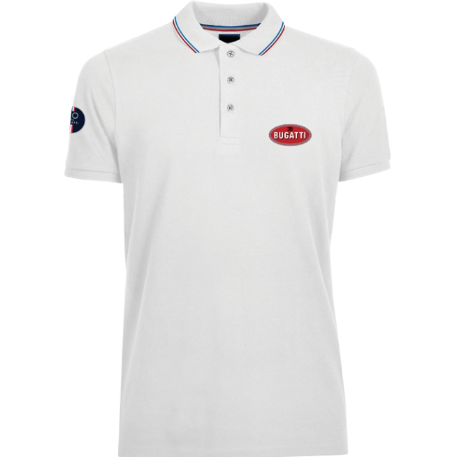 Bugatti Men's White Polo