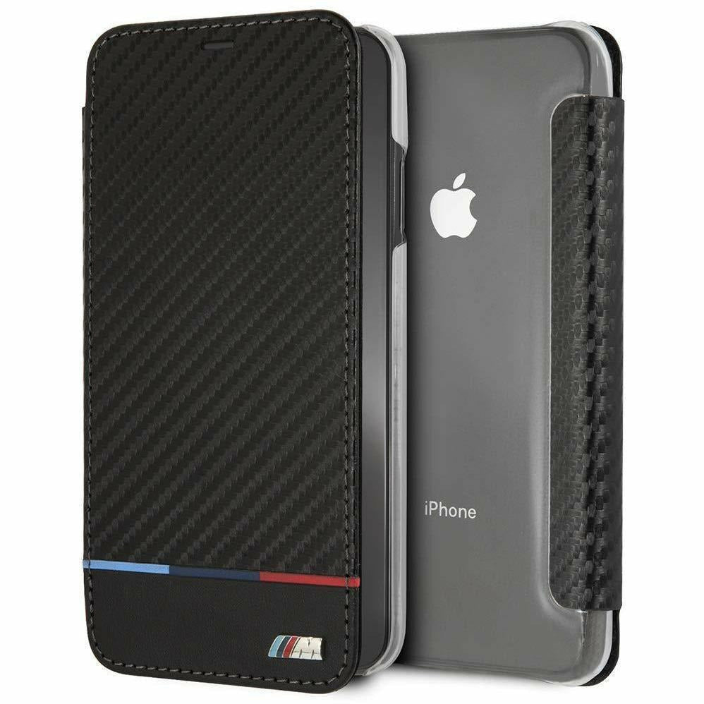BMW Carbon Inspire Bookstyle Wallet Case, iPhone XR