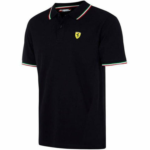 Scuderia Ferrari Men's Formula 1 2018 Authentic Men's Black Tri-Color Polo