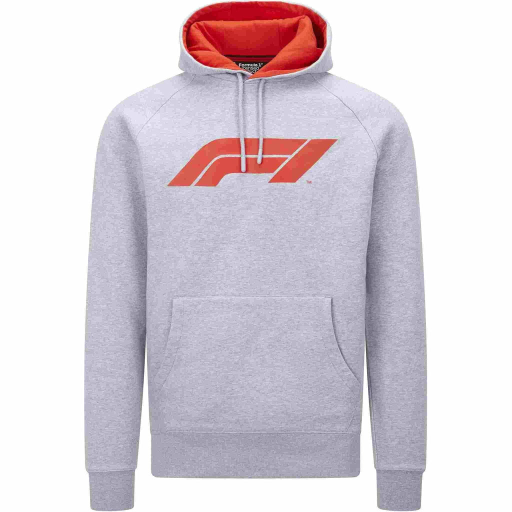 Formula 1 Tech Collection F1 Men's Large Logo Hooded Sweatshirt Black/Gray