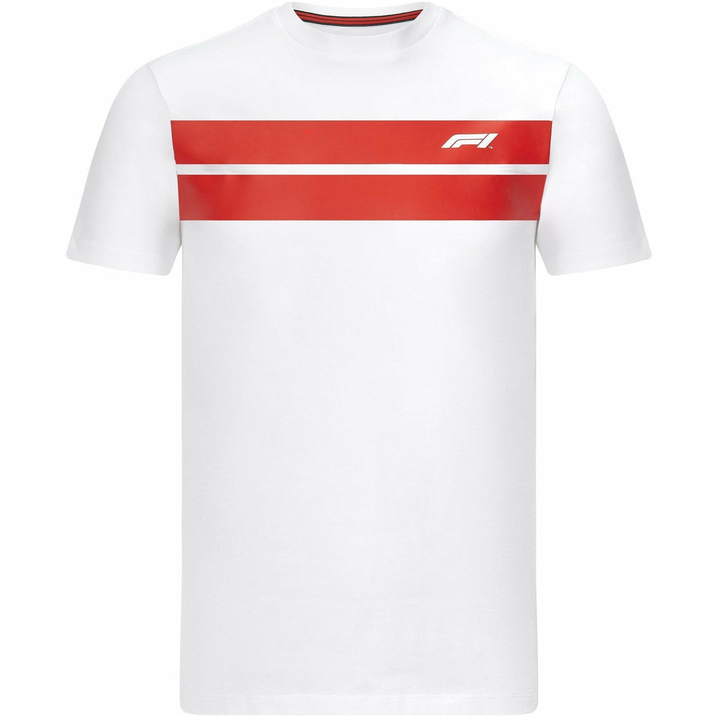 Formula 1 Tech Collection F1 Men's Chest Stripe T-Shirt White