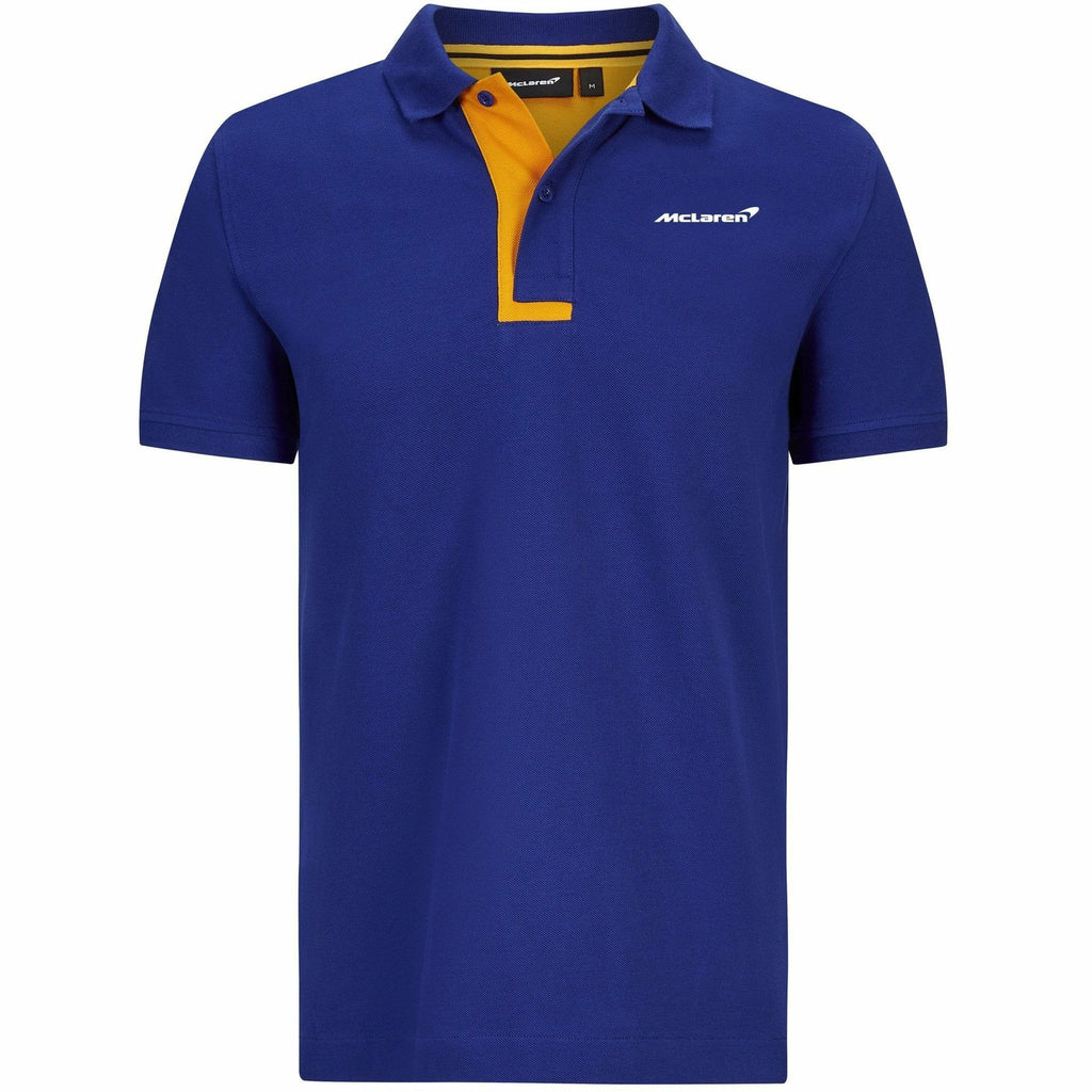 McLaren F1 Men's Essentials Polo Anthracite/Blue