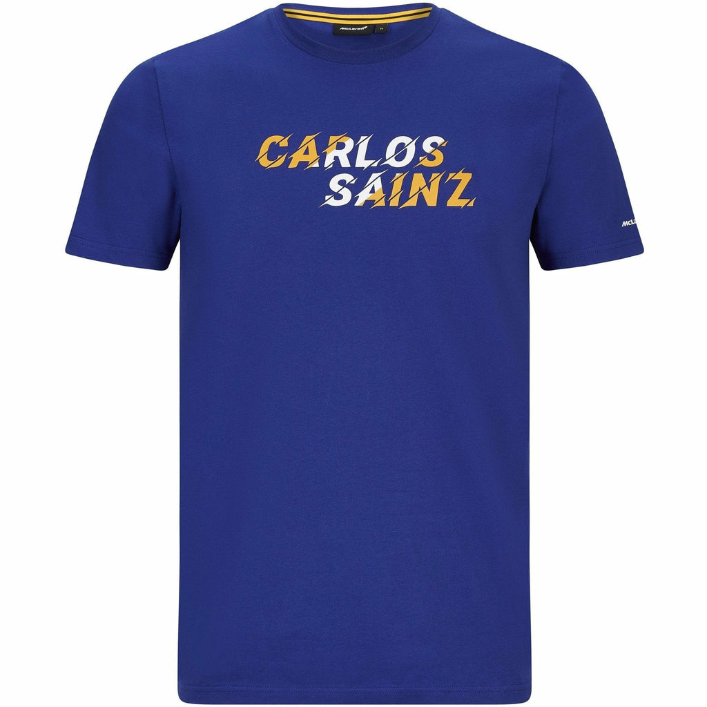McLaren F1 Men's Carlos Sainz #55 Graphic T-Shirt Anthracite/Blue