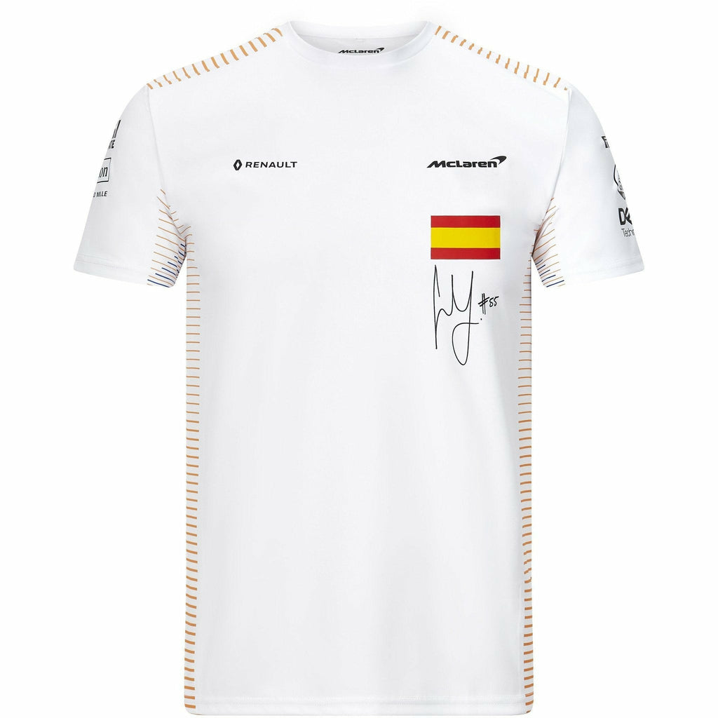 McLaren F1 Carlos Sainz 2020 Team T-Shirt White