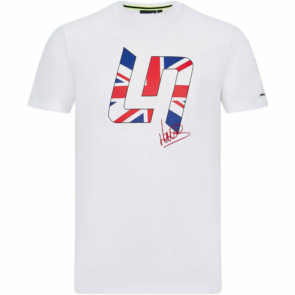 McLaren F1 Lando Norris Men's Great Britain T-Shirt White