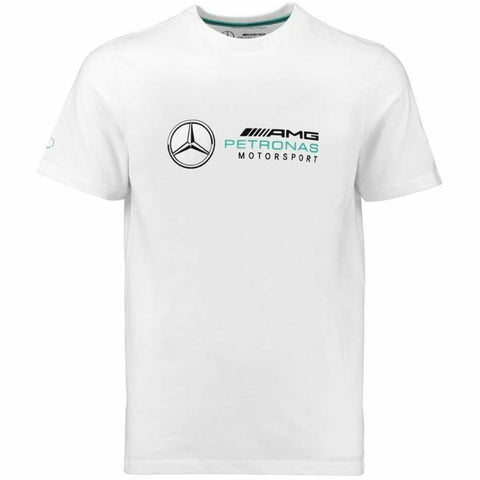 Mercedes Benz AMG Petronas Formula 1 Men's 2018 White Logo T-Shirt