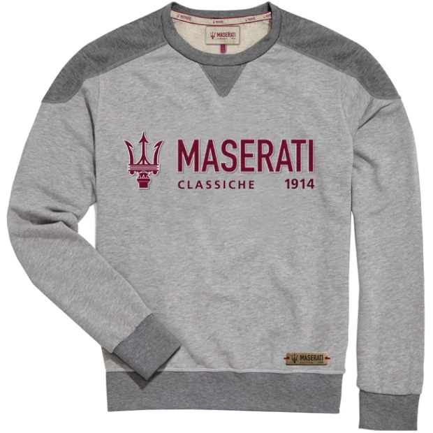 Maserati Classiche Men's Gray Sweatshirt