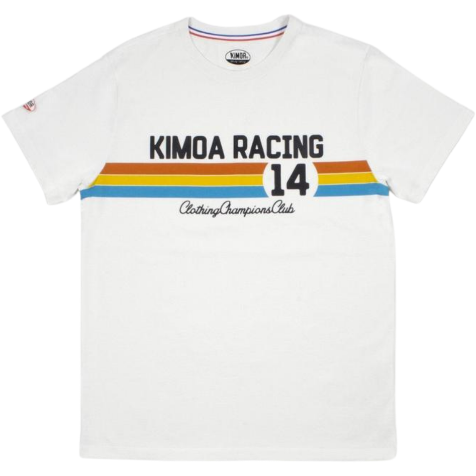 Kimoa Racing #14 Men's T-Shirt-Cream/Blue