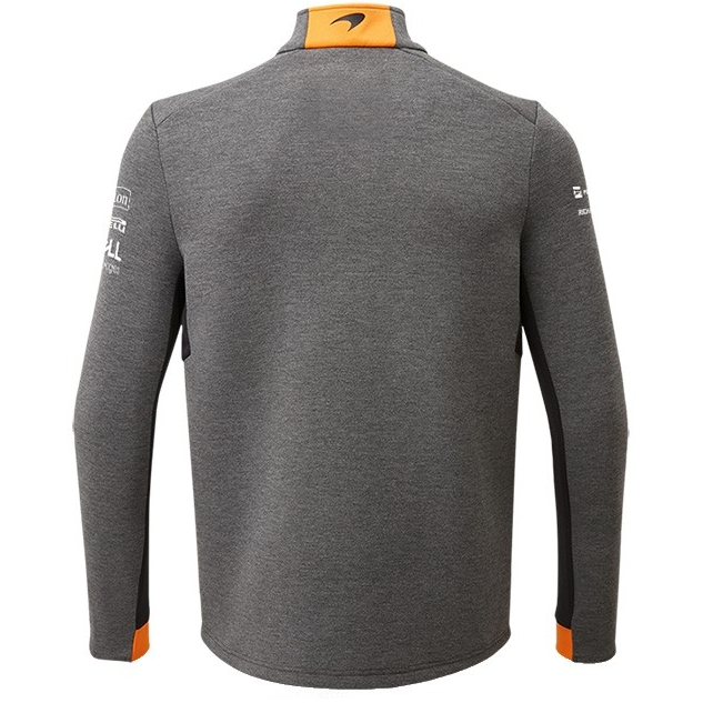 McLaren F1 2019 Men's Team 1/4 Zip Sweatshirt Grey