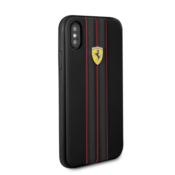 FERRARI BLACK PU LEATHER HERITAGE CASE