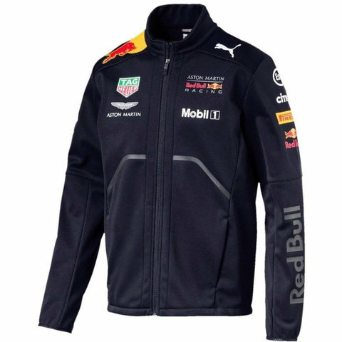 Red Bull Formula 1 Aston Martin 2018 Men's Team Blue Softshell Jacket