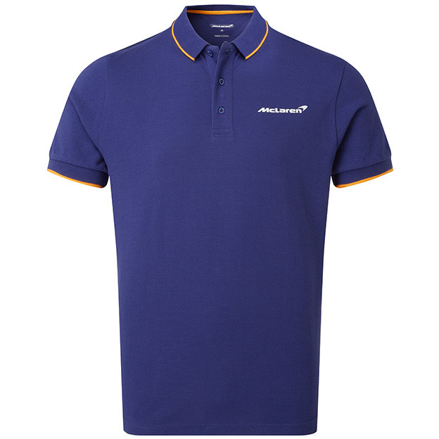 McLaren Essentials Blue Logo Polo