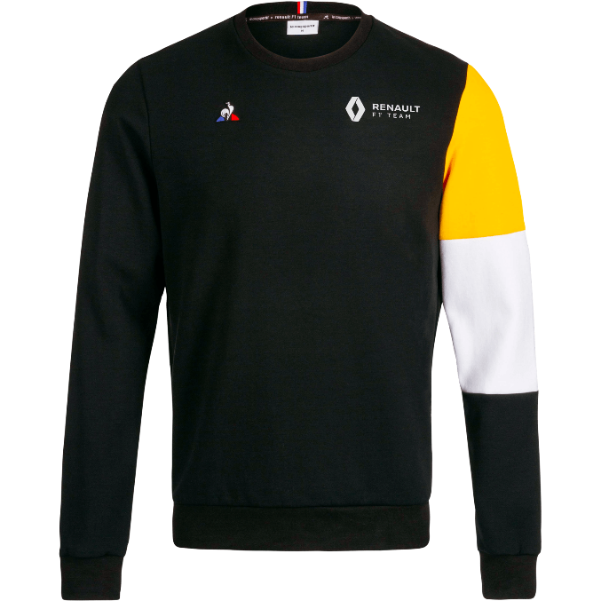 Renault F1 Men's Team Fan Crew Sweatshirt Black