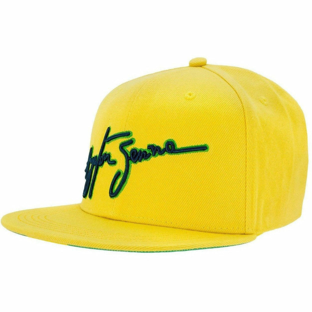 Ayrton Senna Authentic Yellow Brazil Flat Brim Hat