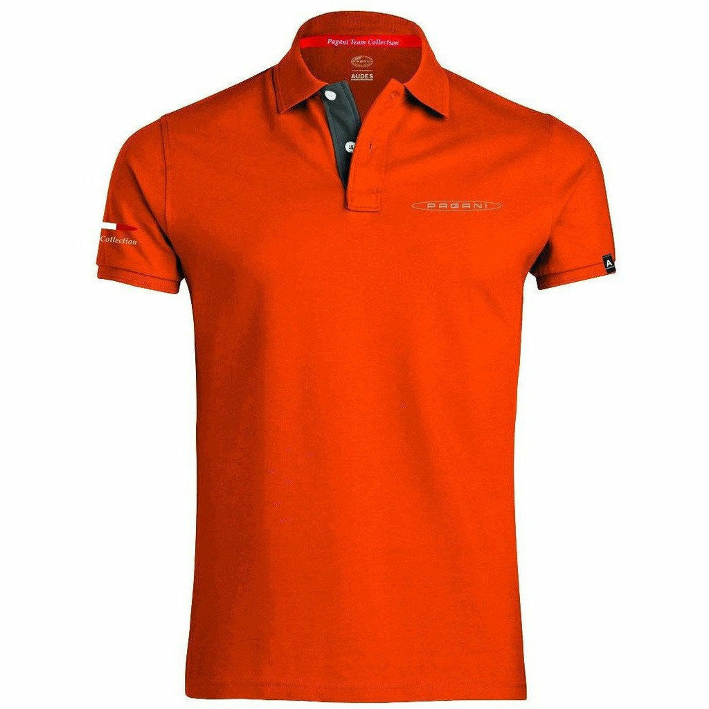 Pagani Automobili Men's Polo Orange